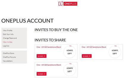 OnePlus One invite
