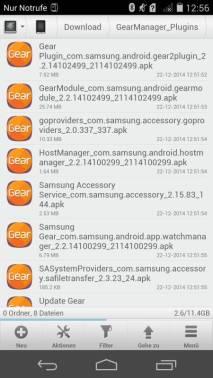 Samsung Gear S mit Nicht-Samsung-Geräten
