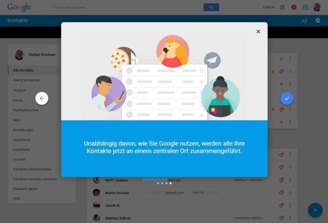 Google Kontakte Einführung