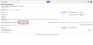 Google Kalender sichern