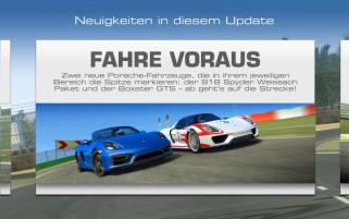 Real Racing 3 Porsche-Update mit Teststrecke Leipzig