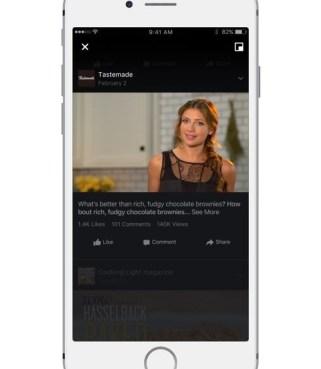Facebook mit Video-Stream