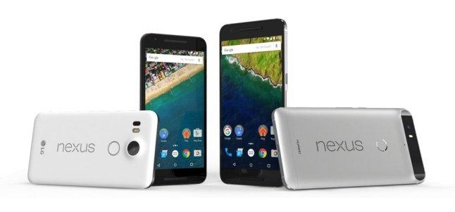Google Nexus 5X von LG und Nexus 6P von HUAWEI