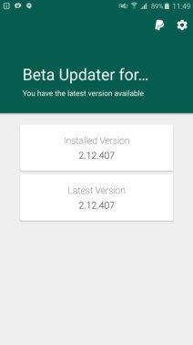 WhatsApp Beta Updater