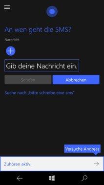 Cortana unter Windows 10 Mobile