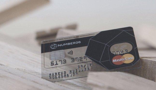 Number26 NFC-Kreditkarte