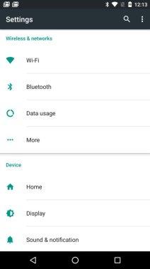 Android N Einstellungen