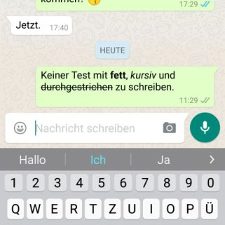 WhatsApp Textformatierung