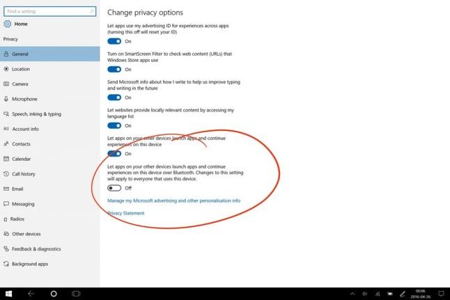 Windows 10 Project Rome Leak
