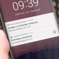 Google Play-Dienste: Kontoaktion erforderlich