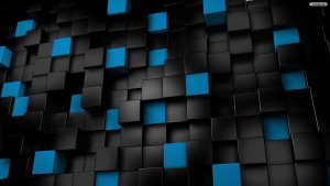 Black-And-Blue-Cubes-Wallpaper-Image-HD