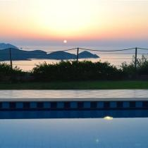 Villas Electra Pool Sunset