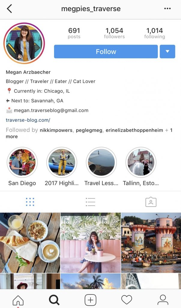 Megpies_Traverse Instagram screenshot