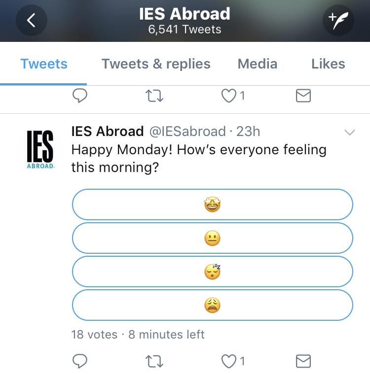 IES abroad twitter screengrab