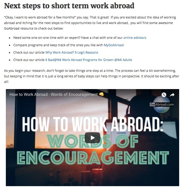 goabroad youtube strategy