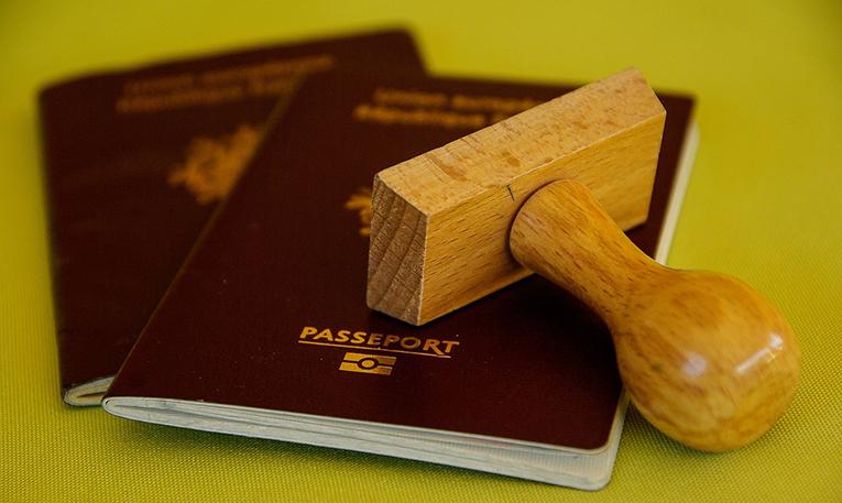 Passport and stamp