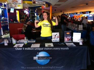 "Kayla Patterson excited about raising awareness & funds at ""Bowling for a Better World."""
