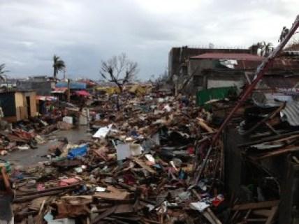 Typhoon Haiyan Destroyed Neighborhood in Tacloban