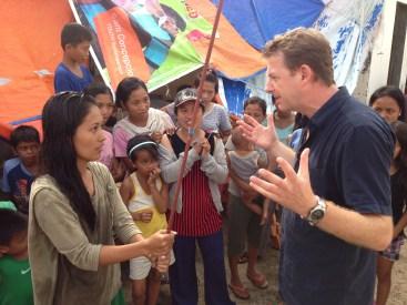 Typhoon Haiyan News Reporting with Angus Walker
