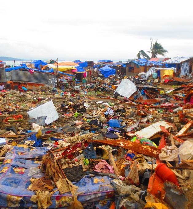 Barangay Anibong in December 2013. The destruction was unimaginable.