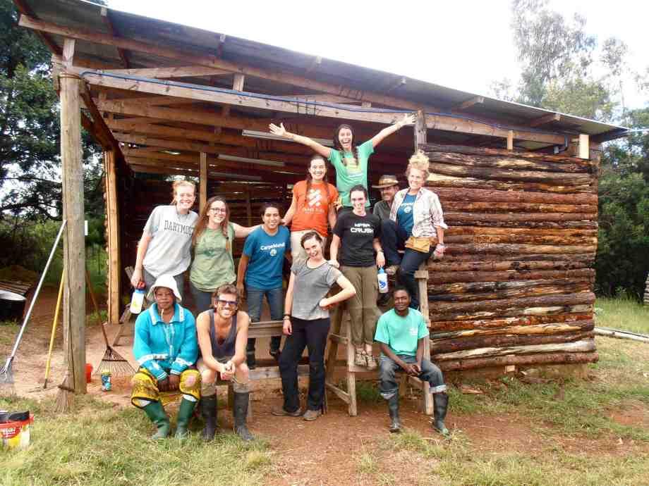 Farm volunteers in Tanzania