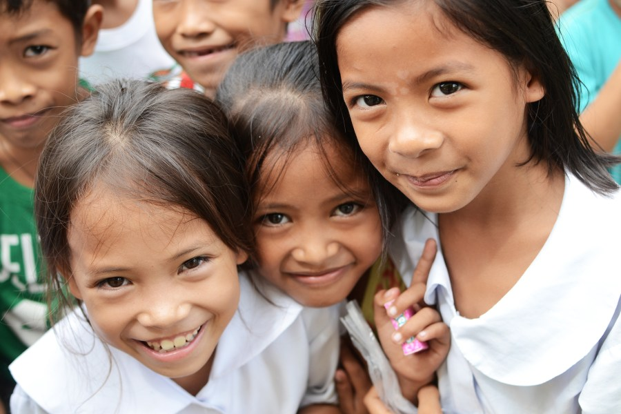 Elementary students in the Philippines