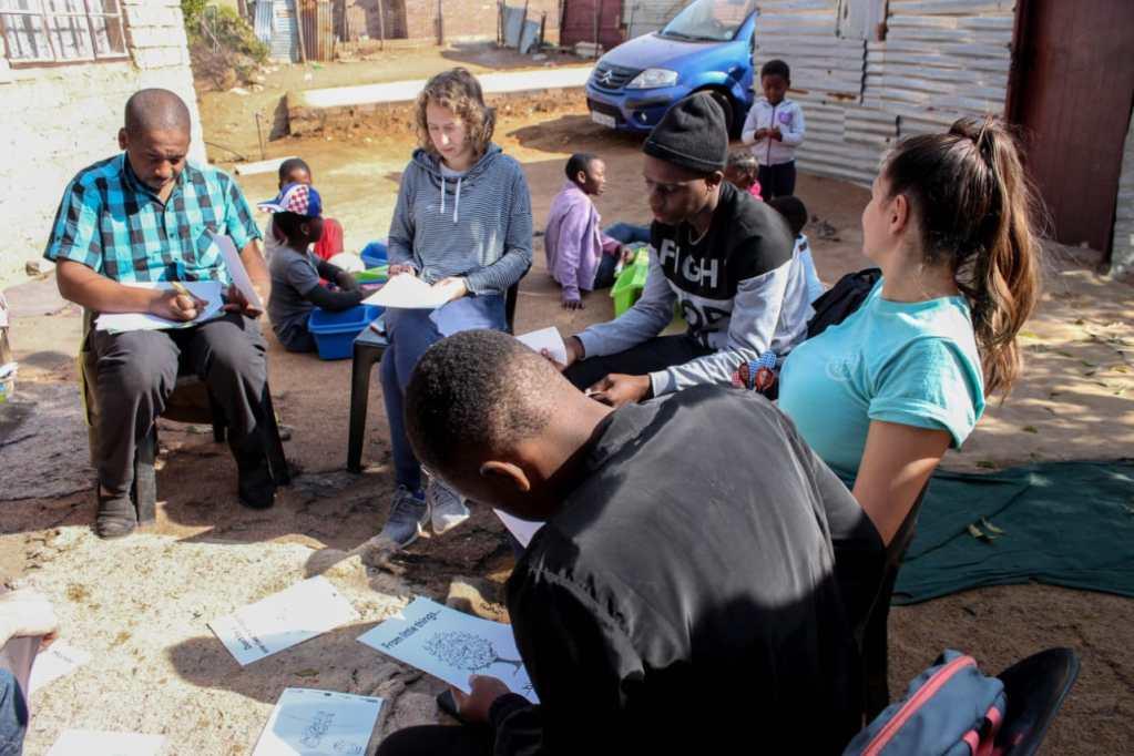 SAVWA staff planning for After School Program