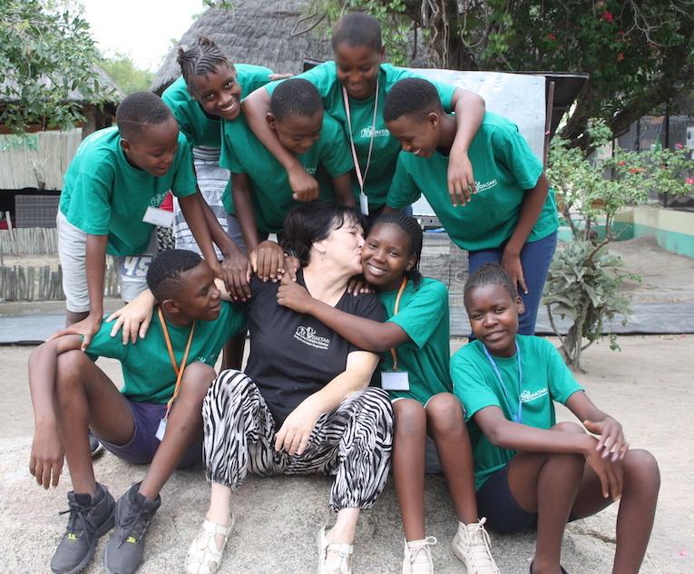 group of people at Daktari Bush School