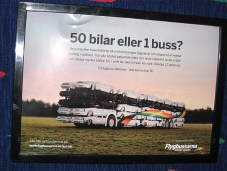 Promotion for public bus, Sweden