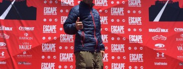 Michael Masangkay at Start Wall before 2015 Escape From Alcatraz Triathlon in San Francisco