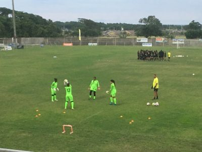 Jamaica goalkeepers training