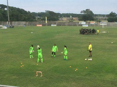 Jamaica goalkeepers training