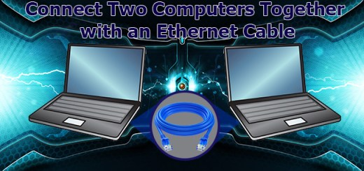 Connect Two Computers Together With An Ethernet Cable