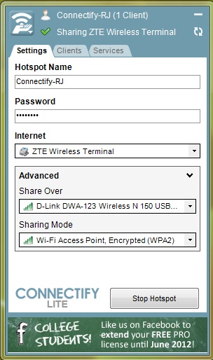 reverse tethering on android
