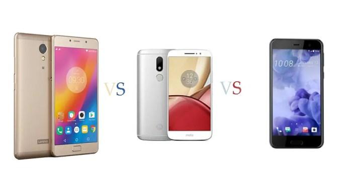 HTC U Play vs Motorola Moto M vs Lenovo P2