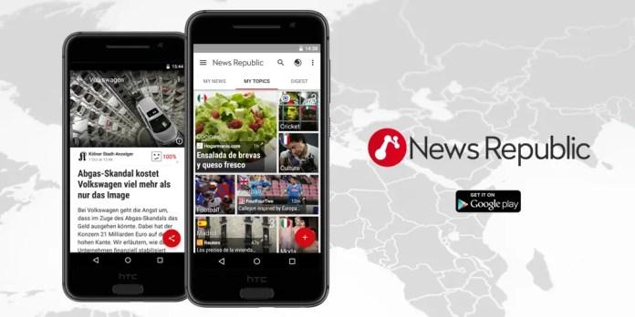 NewsRepublic flipboard news reader android
