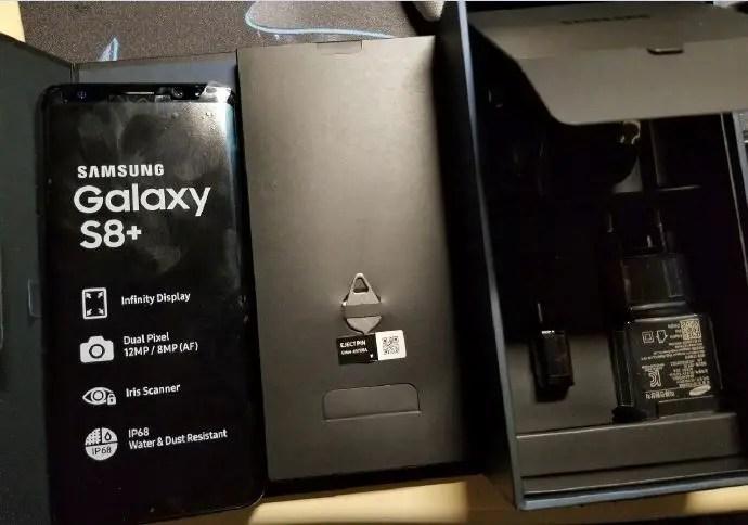 galaxy s8+ device