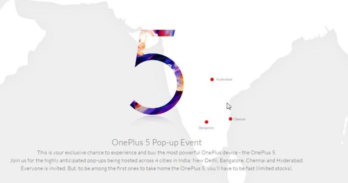 OnePlus 5 pop-up events