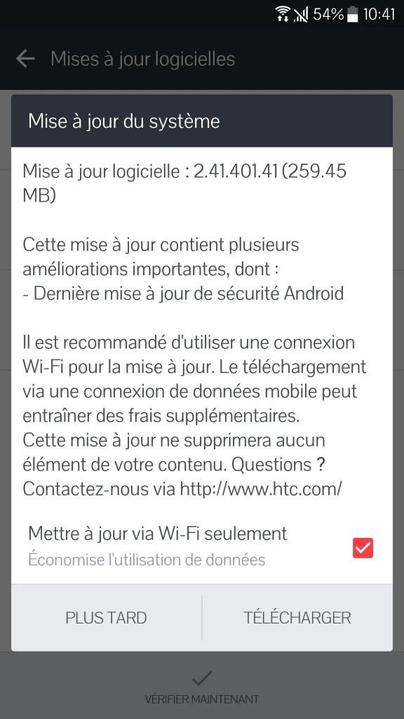 HTC 10 Update
