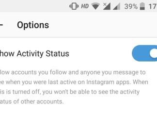 Instagram Show Activity Status