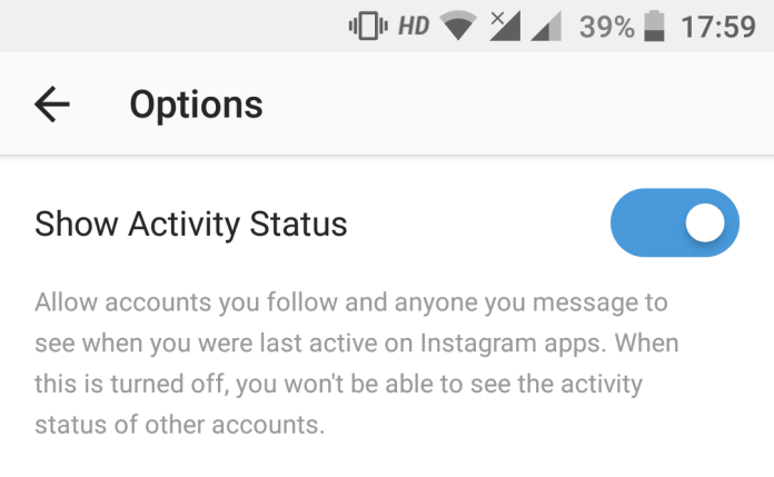 Instagram Show Activity Status