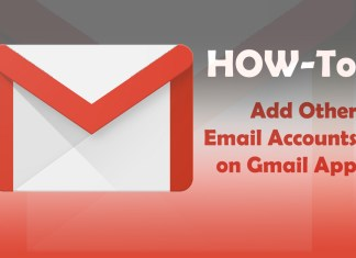 how to add other email accounts on gmail app