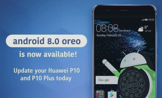 Android 8.0 Oreo on P10, P10 Plus