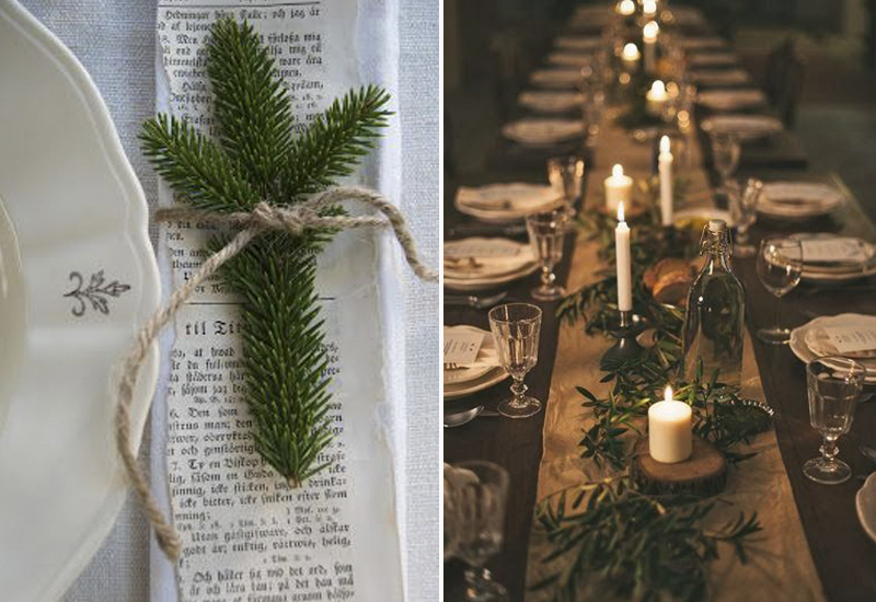 Botanicals and candle light