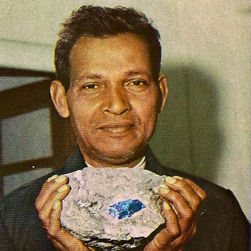 Manuel de Souza with a find