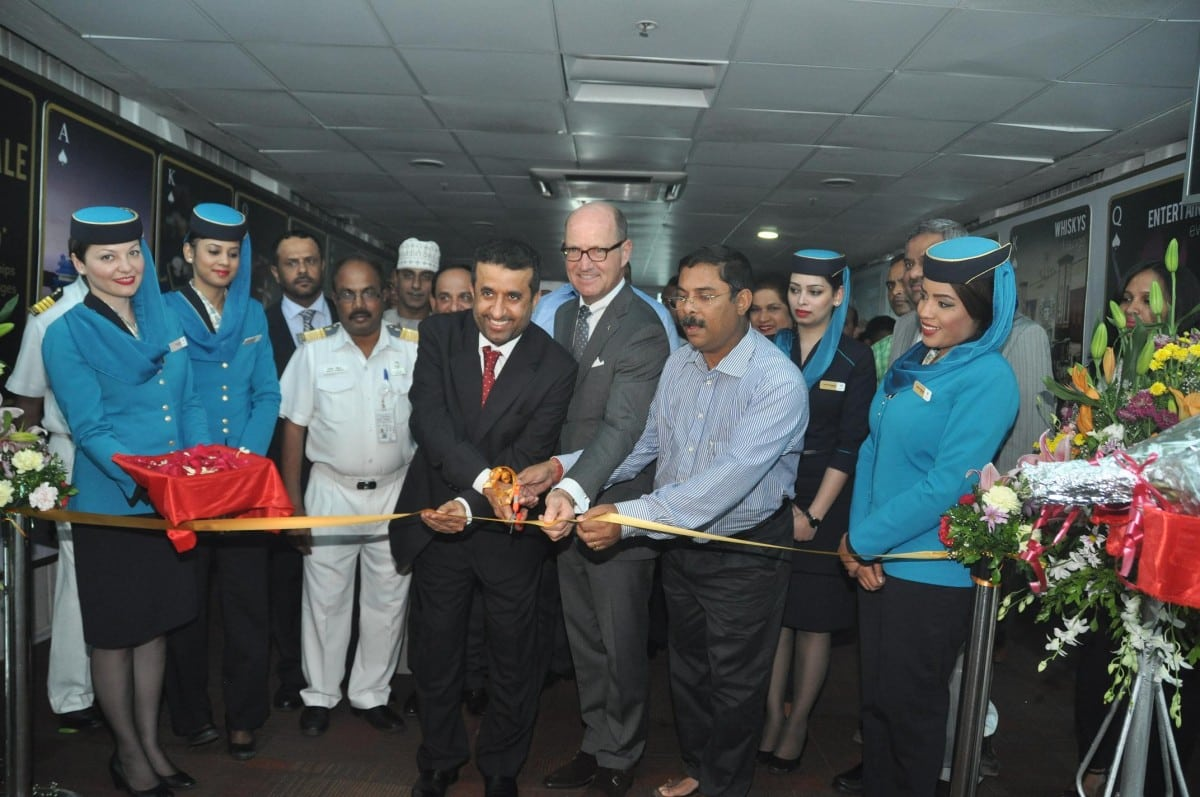 Tourism  minister  Shri  Dilip Parulekar  welcoming  the  first  official  direct  flight  from Muscat to  Goa  which  landed  at  Goa  Airport, Dabolim  on Monday