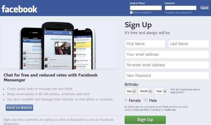 """Facebook built out its mobile app, especially on """"dumb"""" phones in 2014, leaving the homepage the same. (Image used for the Representational purpose only)"""