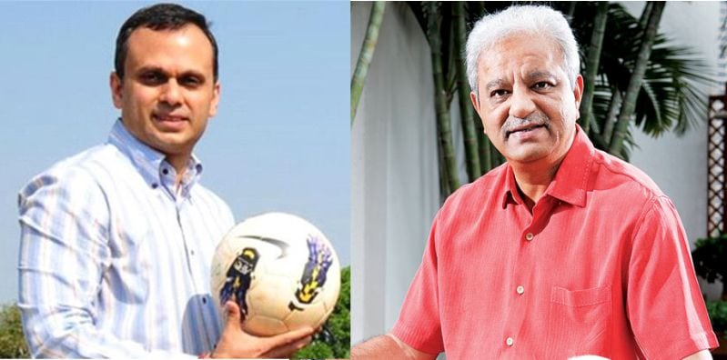 FC Goa Co-owner Shrinivas Dempo and Casino Mogul Jaydev Modi