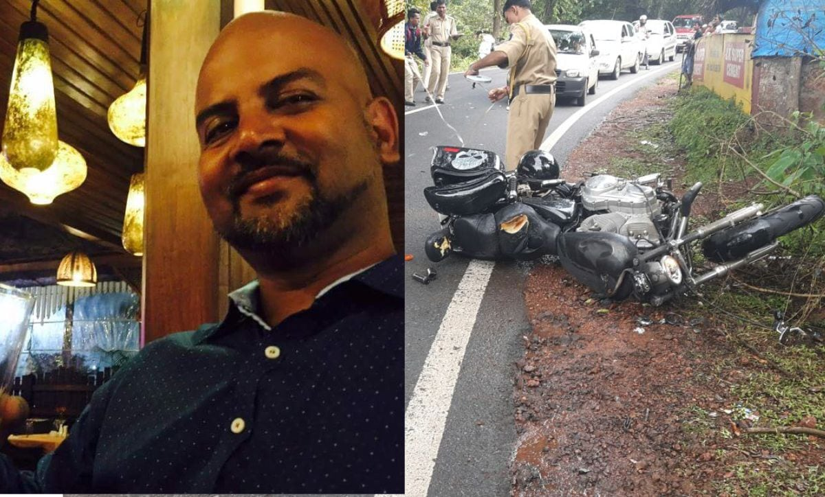 Deadly Accident South Goa Harley Davidson rider died spot bike hit car