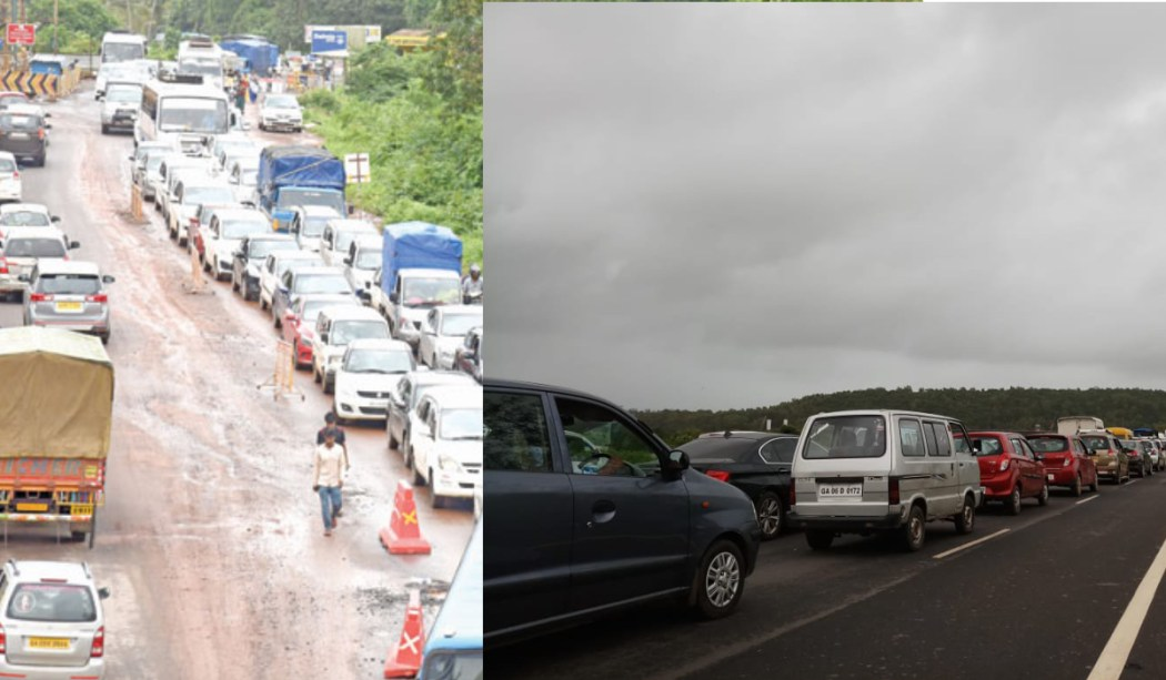 Traffic At Verna Goa
